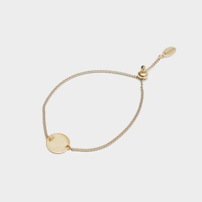 15mm coin bracelet adjustable