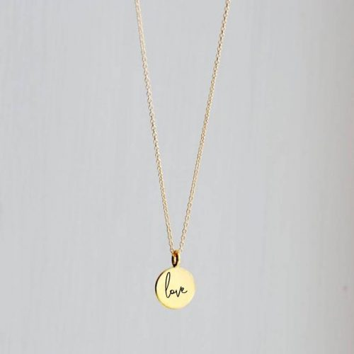 Coin necklace genit