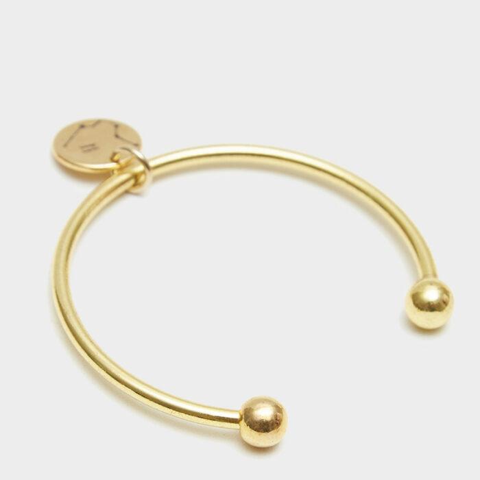 Gold Barbell Cuff