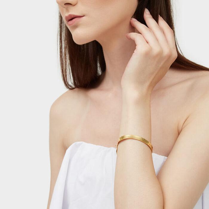 model gold 6mm cuff