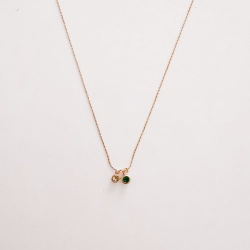 birthstone necklace white