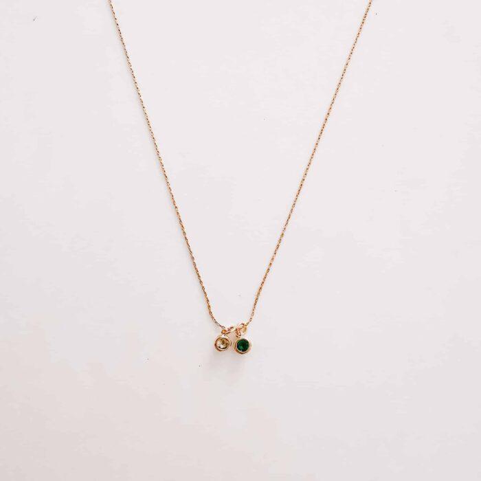 birthstone necklace white